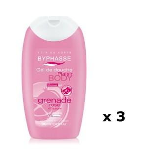 Lot de 3 - Gel douche Plaisir Grenade Rose - Tous types de peaux - 500 ml
