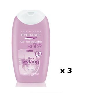 Lot de 3 - Gel douche Plaisir Fleur d'Ylang - Tous types de peaux - 500 ml