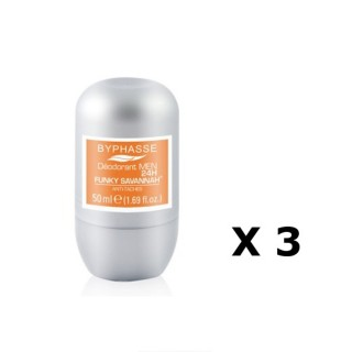 Lot de 2 - Déodorant Roll-On Men 24h - Funky Savannah - 50 ml