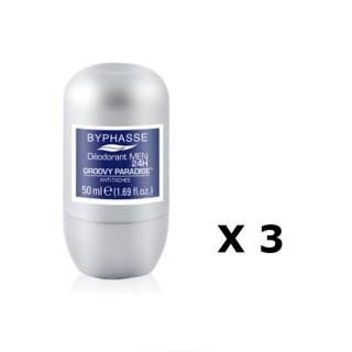 Lot de 2 - Déodorant Roll-On Men 24h - Groovy Paradise - 50 ml