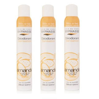 Lot de 3 - Déodorant Spray 24h - Huile d'Amande Douce - 250 ml