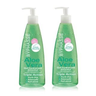 Lot de 2 - Gel Hydratant Douceur Aloe Vera - Tous types de peaux - 400 ml