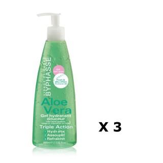 Lot de 3 - Gel Hydratant Douceur Aloe Vera - Tous types de peaux - 400 ml