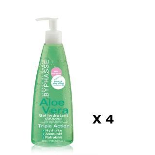 Lot de 4 - Gel Hydratant Douceur Aloe Vera - Tous types de peaux - 400 ml