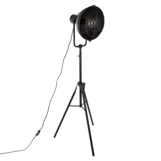 Lampadaire trépied en métal - H. 150 cm - Noir
