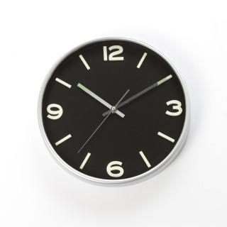 Horloge murale phosphorescente - Diam. 30 cm - Noir