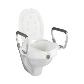 Rehausseur avec poignées pour abattant WC Secura - Plastique - Blanc