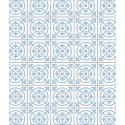 Fond de hotte en verre Carreaux de ciment - 60 x 70 cm - Bleu