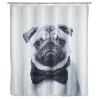 Rideau de douche Chien - Polyester - 180 x 200 cm - Gris