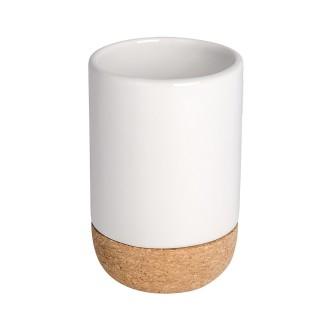Gobelet porte brosses à dents Corc - Céramique - Blanc