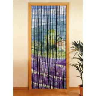 Rideau de porte déco Provence - Bambou - 90 x 200 cm - Multicolore