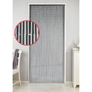 Rideau de porte déco - Bambou - 90 x 200 cm - Gris