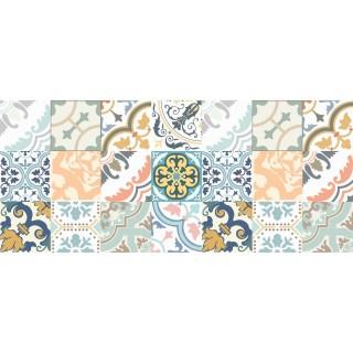 Tapis Vinyle rectangulaire Jade - 116 x 50 cm - Bleu