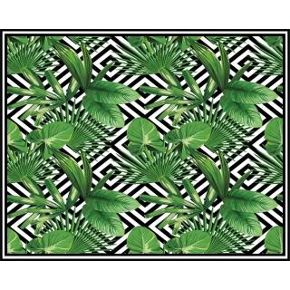 Tapis Vinyle rectangulaire Micronésie - 100 x 80 cm - Vert