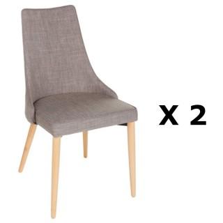 2 Chaises contemporaine Livan - H. 86 cm - Couleur lin
