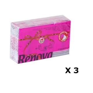 Lot de 3 - 6 Paquets de mouchoirs parfumés - Triple épaisseur - Rose