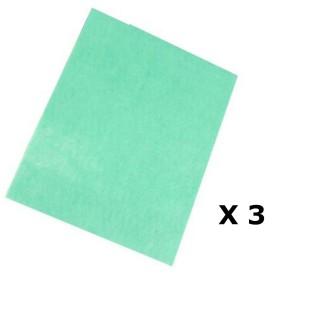 Lot de 3 - Serpillière anti-bactéries - 50 x 40 cm - Parfum pin