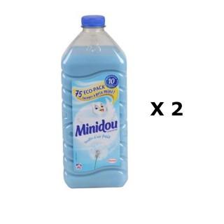 Lot de 2 - Adoucissant Liquide Concentré - 75 Lavages - Bouffée d'air frais