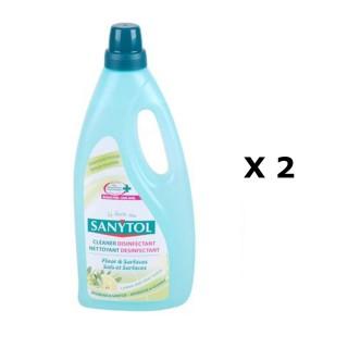 Lot de 2 - Nettoyant sols et surfaces - 1 L - Citron
