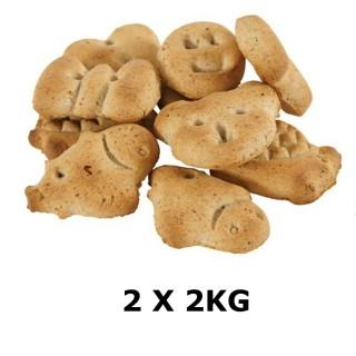 Lot de 2 - Biscuits Multi-formes - Viande de Bœuf - Box 2 kg