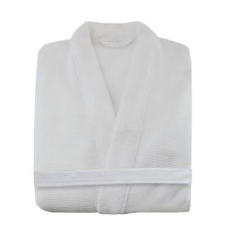 Peignoir Aqua - 100% coton - Blanc