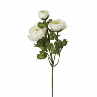 Tige artificielle de Renoncule - H. 60 cm - Blanc