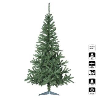 Sapin de Noël artificiel Essentiel - H. 90 cm - Vert