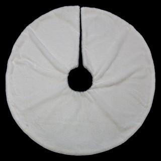 Tapis pour sapin de Noël en fourrure - Diam. 90 cm - Blanc