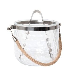 Seau à glace avec corde - 1 L - Transparent