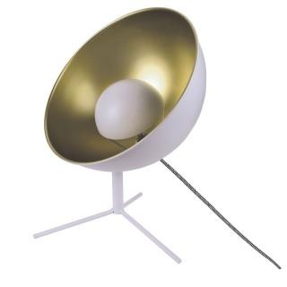 Lampe trépied en métal Cinéma - H. 45 cm - Blanc