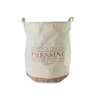 Panier à linge en tissu rigide Deluxe - 63 L - Blanc