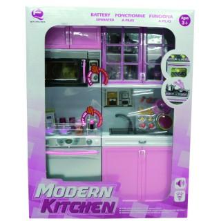 Cuisine équipée pour maison de poupée -Violet