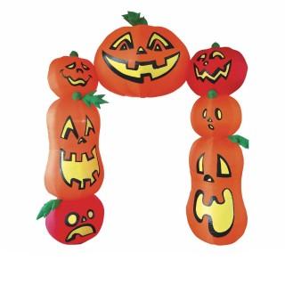 Décoration d'Halloween - Arche citrouille gonflable - H. 273 cm