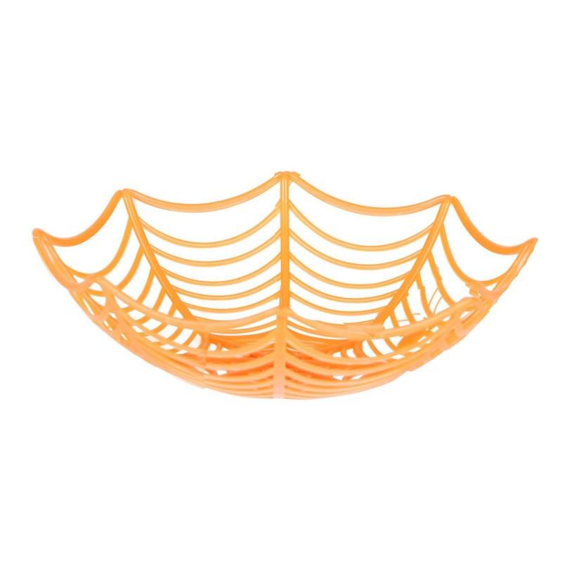 Décoration d'Halloween - Corbeille à fruits - Orange