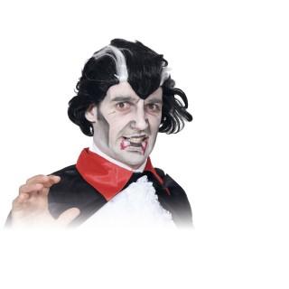 Déguisement d'Halloween - Perruque homme Vampire - Noir et blanc