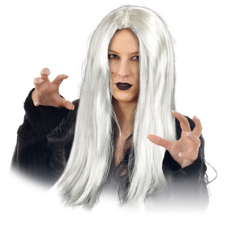 Déguisement d'Halloween - Perruque femme Sorcière - Gris