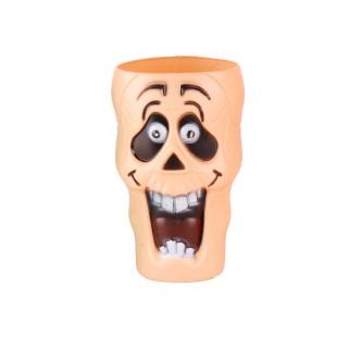 Décoration d'Halloween - Gobelet en plastique - Orange clair