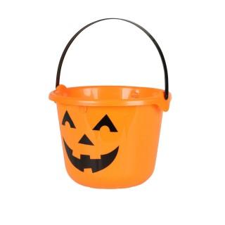 Décoration d'Halloween - Seau à bonbons citrouille - Orange