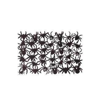 Décoration d'Halloween - Set de table araignées - Noir