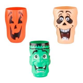 Décoration d'Halloween - 3 Gobelets en plastique