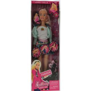 Poupée mannequin tendance Sandra - H. 41 cm - Blonde