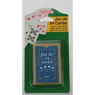 Jeu de 54 Cartes pour Bridge - Bleu