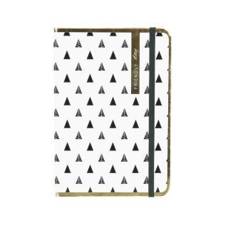 Carnet de notes A5 Friendly - Fermeture avec élastique - Blanc