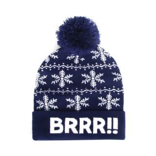 Bonnet à pompon homme - Brrr - Bleu