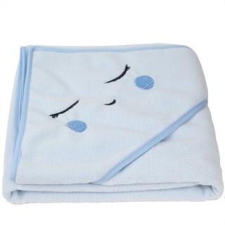 Cape de bain pour enfant - L. 106 x l. 105 cm - Bleu