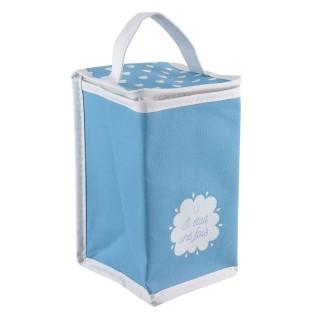 Sac isotherme pour bébé - 13 x H. 27 cm - Bleu