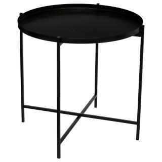 Table à café en métal Kylian - Diam. 48 cm - Noir