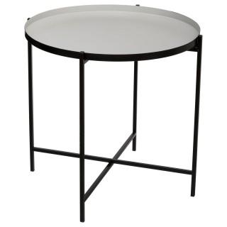 Table à café en métal Kylian - Diam. 48 cm - Gris