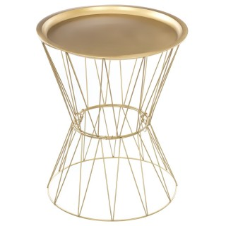 Table à café Filaire Kate - Diam. 43,5 cm - Or