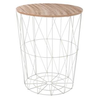 Table à café filaire Kumi - Diam. 47 cm - Gris